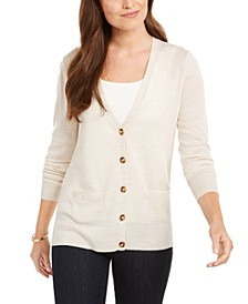 Merino Wool V-Neck Cardigan, Created for Macy's