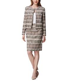 Snap-Front Blazer & A-Line Skirt