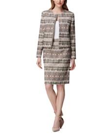 Tahari ASL Snap-Front Blazer & A-Line Skirt