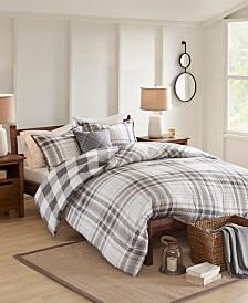 Madison Park Sheffield 4-Pc. Cotton Printed Reversible Comforter Set