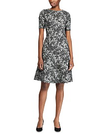 Lauren Ralph Lauren Floral-Print Fit & Flare Dress