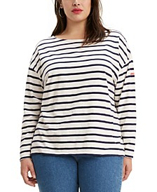 Trendy Plus Size  Cora Slouchy Tie-Back Sweater
