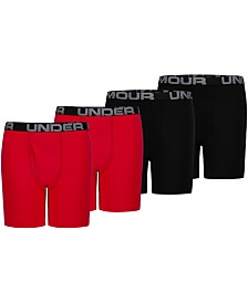 Under Armour Big Boys 4-Pk. Boxer Briefs