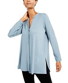 Mandarin-Collar Tunic, Regular & Petite