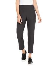 Eileen Fisher Pull-On Slim-Fit Pants, Regular & Petite