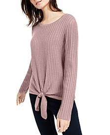 INC Ribbed Knotted Sweater, Created for Macy's