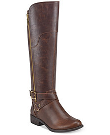 GBG Los Angeles Haydin Wide Calf Riding Boots