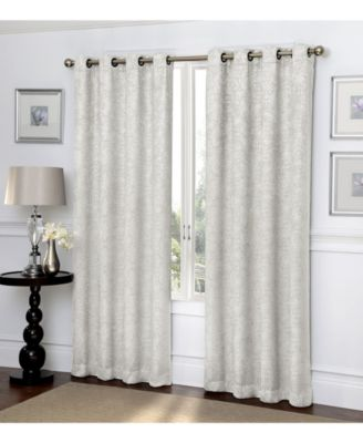 "Ironwork Scroll Blackout Grommet Curtain, 84"" x 50"""