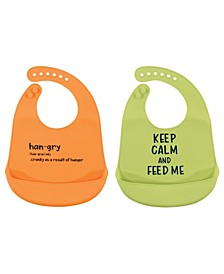 2-pack Silicone Bibs With Pocket