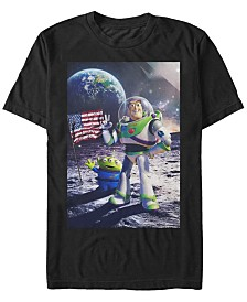 Disney Pixar Men's Toy Story Buzz Moon Landing Short Sleeve T-Shirt