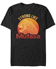 Disney Men's Lion King Strong Like Mufasa Short Sleeve T-Shirt