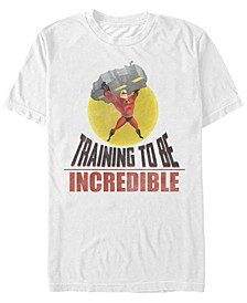 Disney Pixar Men's Incredibles Training To Be Incredible Short Sleeve T-Shirt