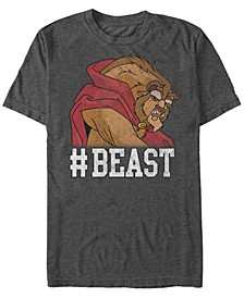 Disney Men's Beauty The Beast BEAST Game Face Short Sleeve T-Shirt