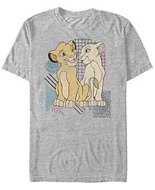 Disney Men's The Simba and Nala Nostalgia Short Sleeve T-Shirt