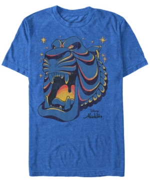 Disney Men's Aladdin Neon Cave Outline Short Sleeve T-Shirt