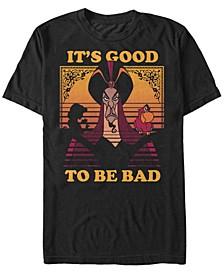 Disney Men's Aladdin Jafar Good To Be Bad Short Sleeve T-Shirt