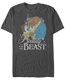 Disney Men's Beauty and The Beast Classic Movie Cover Short Sleeve T-Shirt