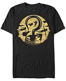 Disney Men's Peter Pan Hook Moon Collage Short Sleeve T-Shirt
