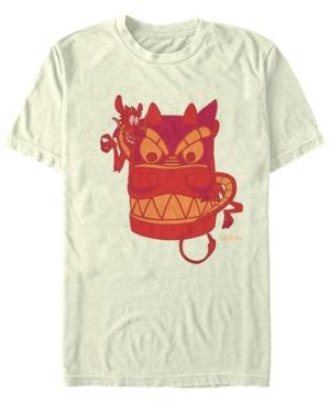 Disney Men's Mulan Mushu The Red Dragon Short Sleeve T-Shirt