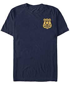 Disney Pixar Men's Zootopia Zootropolis Police Badge Short Sleeve T-Shirt