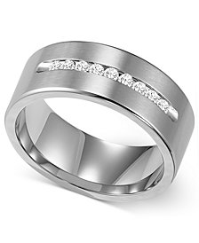 Triton Men's Channel-Set Diamond Wedding Band in Cobalt (1/4 ct. t.w.)