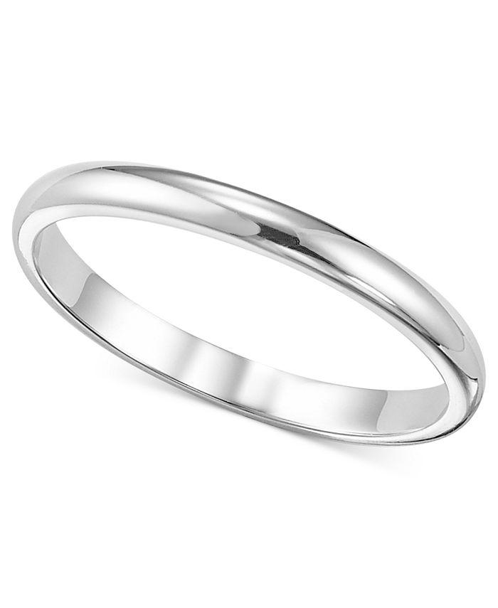 Macy's - Women's Ring, 2mm Platinum Wedding Band