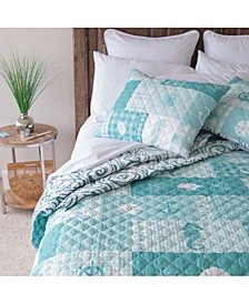 Seahorse Grid Quilt Collection