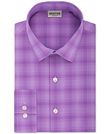 Men's Slim-Fit All Day Flex Performance Stretch Plaid Dress Shirt