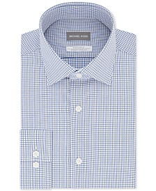 Michael Kors Men's Classic/Regular-Fit Non-Iron Airsoft Performance Stretch Knit Check Dress Shirt
