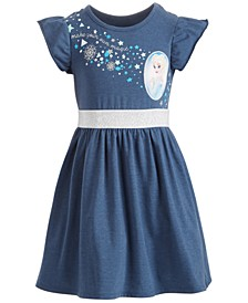 Little Girls Elsa Snowflake Dress