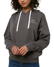 O'Neill Juniors' Pismo Tropics Graphic-Print Fleece Hoodie