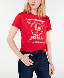 Mighty Fine Juniors' Sriracha Graphic T-Shirt