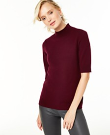 Charter Club Cashmere Mock-Neck Sweater, Created for Macy's