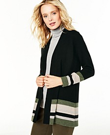Striped Cashmere Cardigan, Regular & Petite Sizes, Created For Macy's