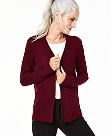 Open-Front Cashmere Cardigan, Regular & Petite Sizes, Created For Macy's