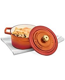 2-Qt. Enameled Cast Iron Dutch Oven with Pumpkin Knob, Created for Macy's
