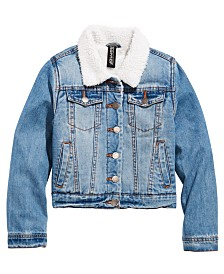 Jou Jou Big Girls Fleece-Lined Denim Jacket