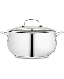 Polished Stainless Steel 7.5-Qt. Covered Dutch Oven, Created for Macy's