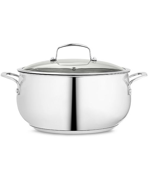 Belgique Polished Stainless Steel 7.5-Qt. Covered Dutch Oven, Created for Macy's