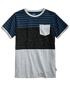 Big Boys Hayden Colorblocked Stripe Pocket T-Shirt