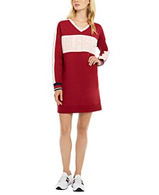 Colorblocked Logo Fleece Dress