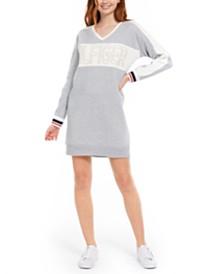 Tommy Hilfiger Sport Colorblocked Logo Fleece Dress