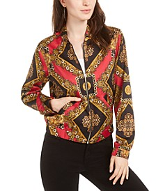 Lelyn Printed Bomber Jacket