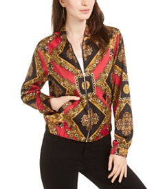 GUESS Lelyn Printed Bomber Jacket