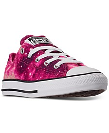 Little Girls Chuck Taylor Ox Galaxy Print Casual Sneakers from Finish Line