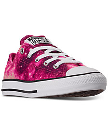Converse Little Girls Chuck Taylor Ox Galaxy Print Casual Sneakers from Finish Line