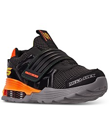 Skechers Little Boys Mega-Volt Stay-Put Closure Athletic Training Sneakers from Finish Line