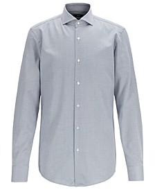 BOSS Men's Jason Slim-Fit Micro-Structured Egyptian Cotton Shirt