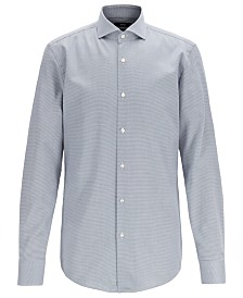 BOSS Men's Jason Slim-Fit Micro-Structured Egyptian Cotton Shirt