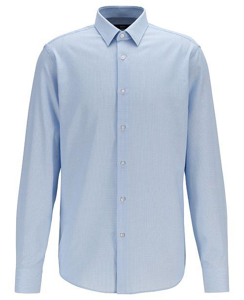 Hugo Boss BOSS Men's Eliott Regular-Fit Micro-Structured Cotton Shirt